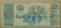 1800's 20 Canal And Banking Co. New Orleans, La Choice Crisp Unc