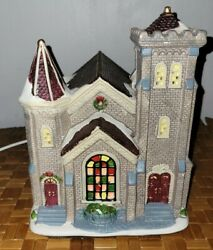 Vintage Holiday Time 2017 Victorian Church Lights Up Christmas Decorations Decor