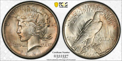 1921 1 Peace Dollar High Relief Pcgs Ms 64 Uncirculated Key Date Cert2337