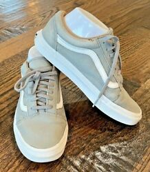 Vans Off The Wall White Green Leather Skate Shoes Men#x27;s Size 6 Women#x27;s 7.5