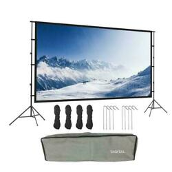 Projector Screen with Stand 120 inch 16:9 HD 4K Outdoor Indoor Projection Screen