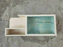 Old Vintage Wooden Medicine Cupboard Chest Cabinet First Aid Box 1960's Rustic