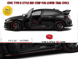 Civic Type R Style Strip For Lower Trim Civics. Get It In Various Colors.
