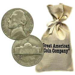 25 Face 500 Coins Circulated War Nickels 35 Silver 1942-1945