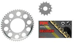 Rk 530 Gxw-ring Gold Chain Jt Sprockets For Honda Cb350f 1972-74 17t 36t
