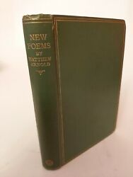 New Poems By Matthew Arnold Ornate Embossed Gilt Original 1st Edition Book 1867