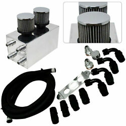 4port Pro Oil Catch Can Breather Filter Kit W/hose For Honda Civic Acura Integra
