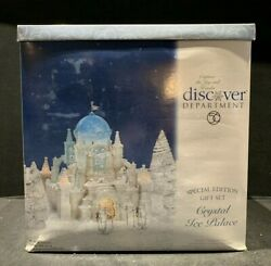 Dept 56 Snow Village 20001 Crystal Ice Palace Gift Set Lighted And Animated 58922
