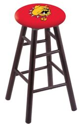 Holland Bar Stool Co. Maple Counter Stool In Dark Cherry Finish With Ferris S...