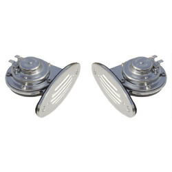 Schmitt And Ongaro Mini Ss Dual Drop-in Horn W/ss Grills High And Low Pitch