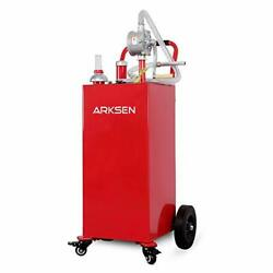 30 Gallon Portable Gas Caddy Fuel Storage Tank Large Gasoline Diesel Can Hand