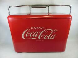 Coke Coca-cola Red Vintage Metal Cooler Ice Chest Retro Collector's Items