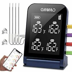 Wireless Grill Bbq Meat Thermometer With 4 Probes, Digital Cooking Thermometer