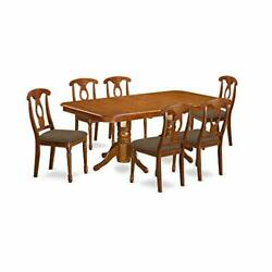 7 Pc Dining Room Set For 6-rectangular Table With Leaf And 6 Chairs For Dining