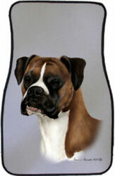 Uncropped Fawn Boxer Car Floor Mats Pair TB 36125