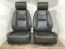 12-14 Cadillac Escalade Platinum Front Pair Of Leather Seatsblack 19 See Notes