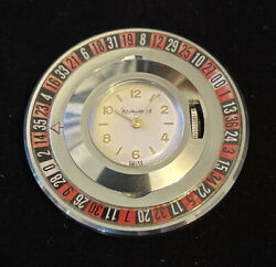 Vintage Casino Roulette Wheel Gambling Swiss Made Pocket Watch Extremely Rare