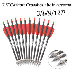 7.5andrdquocrossbow Bolts Carbon Arrows 100grain 2blade Broadheads For Archery Shooting