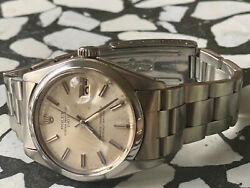 Vintage Rolex Oyster Perpetual 1968 Date Silver/pearl Dial Going Tropical