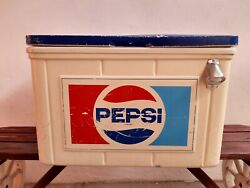 Vintage Mexican Pepsi Cola Plastic Picnic Ice Chest Cooler Big From 80's
