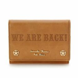 Samantha Thavasa Petit Choice Limited Toy Story 4 Cowhide Mini Wallet Brown F/s