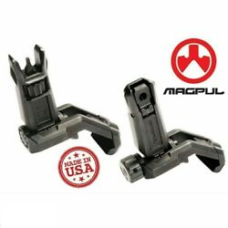 Magpul Mbus Pro Offset Front And Rear Set Folding Steel Iron Sights Mag525/mag526