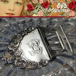 Vintage Sterling Silver Hallmarked Repousse Engraved Bookmark Clip Initials