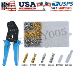 400pcs Brass 3.9mm Electrical Motorcycle Wiring Harness Loom Bullet Connectors