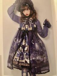 Angelic Pretty Mercator Antique Shop One Piece Navy Blue And Tights Headband Set