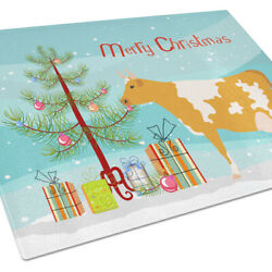 Carolineand039s Treasures Bb9188lcb Guernsey Cow Christmas Glass Cutting Board Large