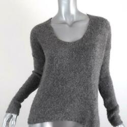 Helmut Helmut Lang Sweater Gray Alpaca Cord Size Small Scoop Neck Pullover