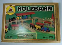 Vintage Wooden Train Set Kids Toy - Made In Germany - Great Collector Condition