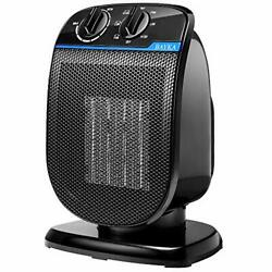 Bayka Ceramic Heater, Portable Electric Space Heater For Office And Home-black