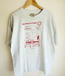 Vtg Usps Promo Letter Carriers Food Drive Stamp Out Hunger Mens Size Xl T Shirt