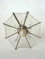 Antique Victorian Halloween Spider Web Place Card Holder Or Hair Ornament