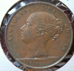 Great Britain 1853 Penny Km739 Extremely Fine        14