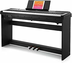 Donner Electronic Piano 88 Semi-weighted Keyboard Midi 3-pedal With Stand