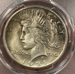 1921 Peace Dollar Pcgs Ms63 High Relief