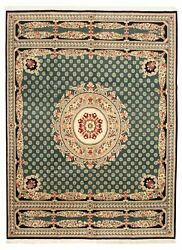 Vintage Hand-knotted Carpet 9'0 X 12'1 Traditional Oriental Wool Area Rug