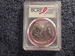 Rare 2018 P Breast Cancer Awareness Silver Dollar Pcgs Ms69 12521 Mintage