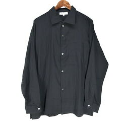 Y's For Men Shirts Cotton Double Gauze Side Ribbed Shirt Jacket 90s Initial