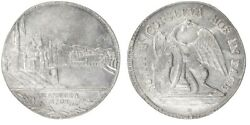 Rare Extremely Fine Silver Coin 1793h Switzerland Thaler Basel City View Km-184