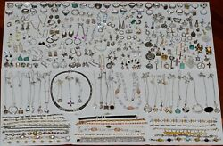 Vintage Sterling Silver 925 Stamped Mixed Jewelry Lot 242 Pieces 1307 Grams