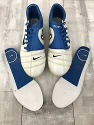 Nike Total 90 Zoom Air Fg White Blue Football Soccer Cleats Boots Us11 Uk10 Rare