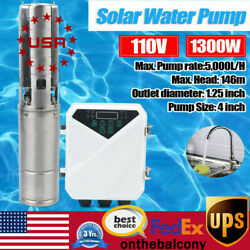 4 110v Farm And Ranch Submersible Deep Solar Well Water Pump Irrigation And Mppt Us