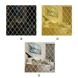 Acrylic Mirror Wall Sticker Decals Diy Self-adhesive Removable Home Art Decor