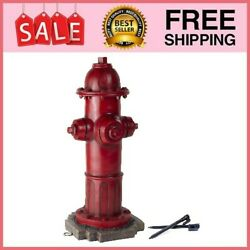 Dog Fire Hydrant Garden Statue With 2 Stakes 16 Inches