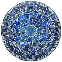 Round Marble Coffee Table Top Antique Design Reception Table For Hotel 36 Inches