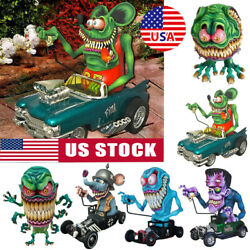 Angry Big Mouth Statue Rat Fink Collectible Model Toy Halloween Decoration Jl
