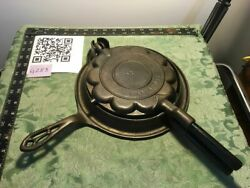 Alfred Andresen Heart Cast Iron Waffle Iron With Low Base